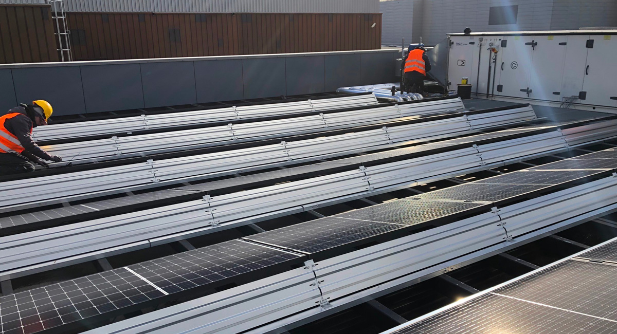 Installations photovoltaïques en industrie pharmacologique